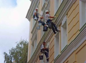 ремонт фасада, фасадные работы